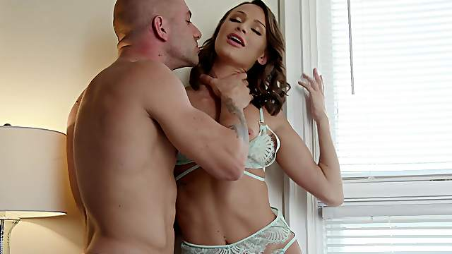 Strong inches for the thin babe after she sucks and licks the balls