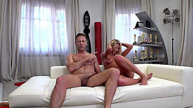 Divine blondie Marilyn Crystal receives the roughest pounding of her life