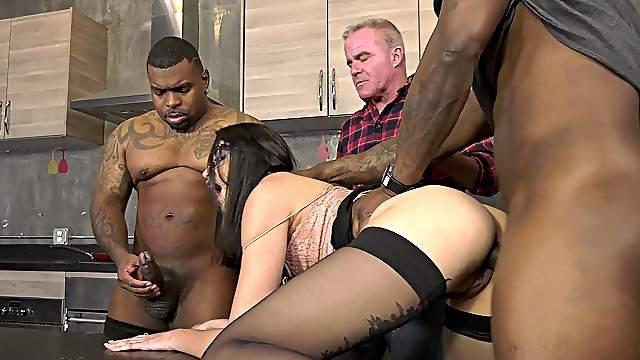 Cuckold watches hottie Avi Love take dick deep in her ass