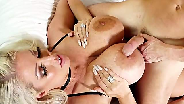 Alura Jenson's huge knockers and thunder thighs shake during hot sex