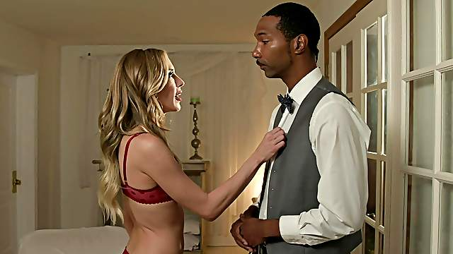 Black man suits horny wife with the inches she needs
