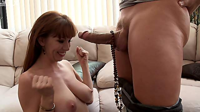 Mature devours whole cock in impossible modes