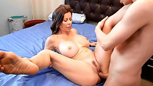 MILF bends ass for stepson's cock after flawless missionary