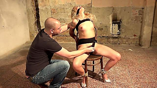 Submissive blonde girl is ready to take her punishment