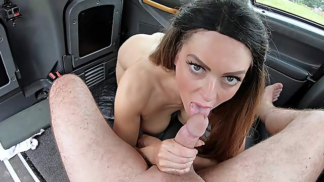 Cab driver fucks gorgeous woman on her way to work