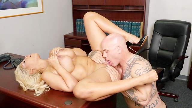 Cougar Latina in massive hard fuck scenes at the office with business partner