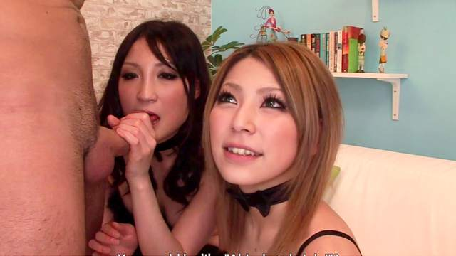 Awesome oral servitude, courtesy of two cute Japanese sluts